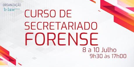 Curso de Secretariado Forense bilhetes