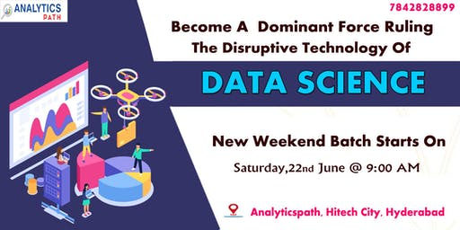 Sign Up For New Weekend Batch On Data Science Training From 22nd June, 9 AM