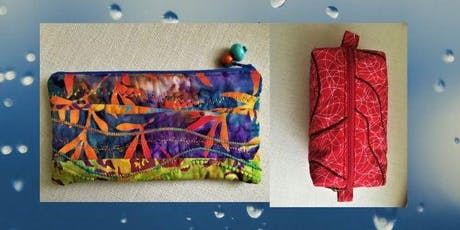 Textile/sewing workshop-make 2 quilted zipped pouches tickets