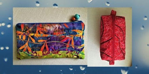 Textile/sewing workshop-make 2 quilted zipped pouches