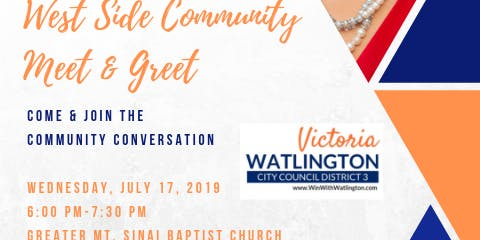 Win With Watlington: Westside Community Meet & Greet