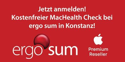 MacHealth Check bei ergo sum - kostenfreier Check für Deinen Mac.