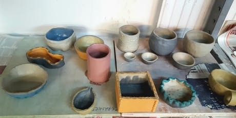 Hand Built Ceramics Drop-in classes, July - September tickets