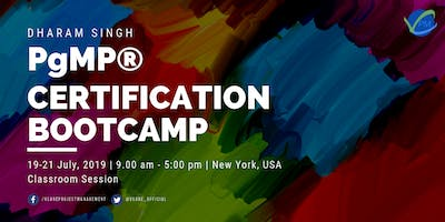 PgMP Training | New York | USA | July | 2019