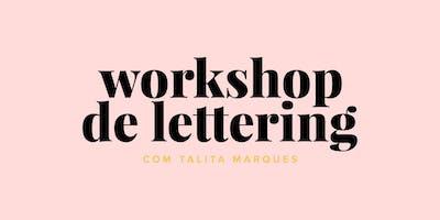 Workshop de Lettering em Recife com Talita Marques