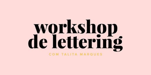 Workshop de Lettering em Recife com Talita Marques