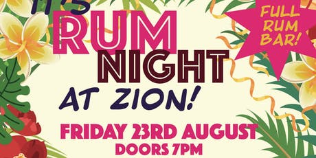 Rum Night at Zion! tickets