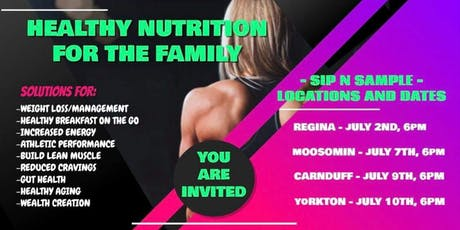Healthy nutrition for the family Regina  tickets