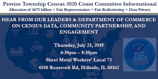 Proviso Township Census 2020 Count Committee Informational
