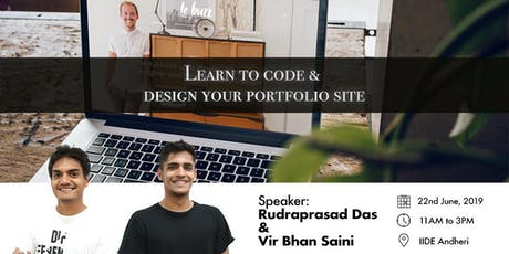 Learn to code & design your portfolio site  tickets