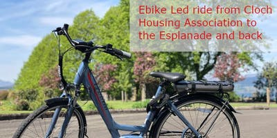 Ebike Led ride from Cloch Housing Association to the Esplanade and back