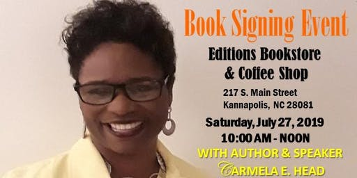 Carmela E. Head, Author & Speaker, Book Signing Event in Kannapolis, NC