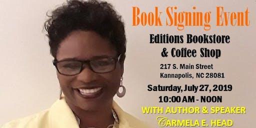 Carmela E. Head, Author & Speaker, Book Signing Event in Kannapolis, NC