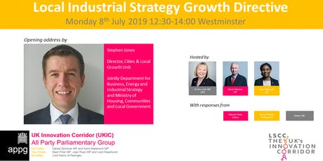 UKIC APPG - Launch of the Local Industrial Strategy (LIS) Growth Directive tickets