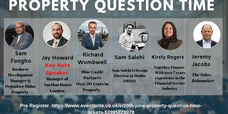 20th June Property Question Time tickets
