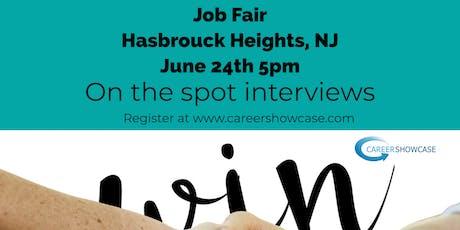 HASBROUCK HEIGHTS NJ JOB FAIR - MONDAY JUNE 24 @5PM MANY COMPANIES tickets