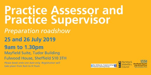 Practice Assessor and Practice Supervisor preparation roadshow - Friday