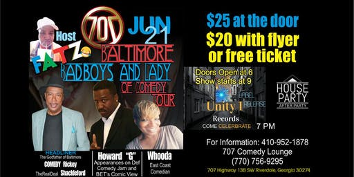 Baltimore Bad Boys and Lady Comedy Tour