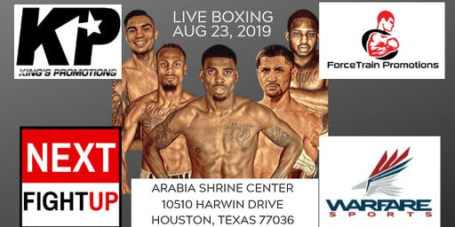 NextFightUp VII - Houston Pro Boxing - ForceTrain & King's Promotions