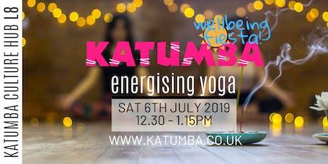 Energising Adult Yoga to live DJ - Katumba Wellbeing Fiesta tickets