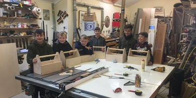 Kids - Wednesday 7th August  10am-1pm, Make your own toolbox, age 10+