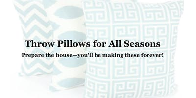 ***** Workshop - Zippered Pillow Covers