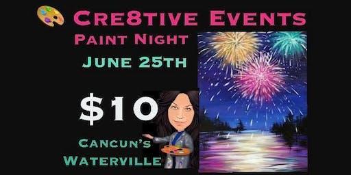 $10 Paint Night @ Cancun's