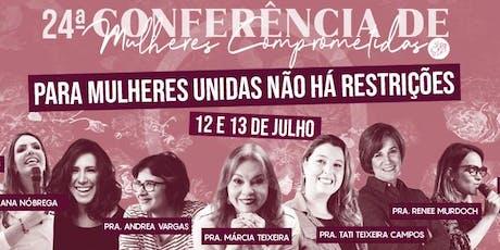 24ª Conferência de Mulheres Comprometidas ingressos