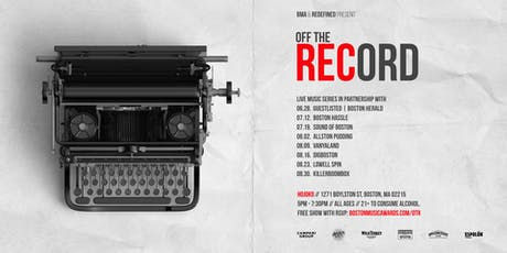 BMA Off The Record with KillerBoomBox tickets