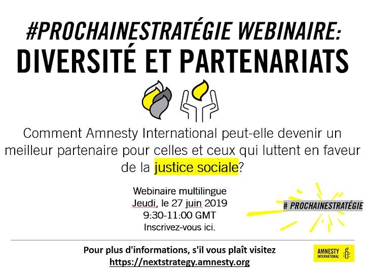 Diversity & Partnerships - #NextStrategy Webinar - Amnesty International image