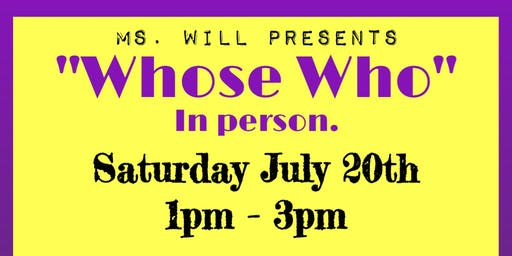 Whose Who In Person7/20