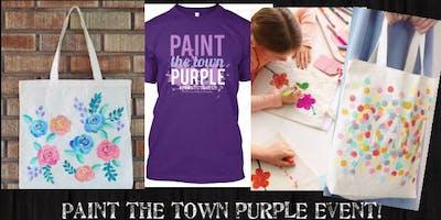 (ELGIN)*MediumTshirt*Paint the Town Purple Paint It!Event-7/19/19 6-7pm