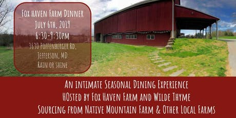 Fox Haven Wilde Farm Dinner  tickets