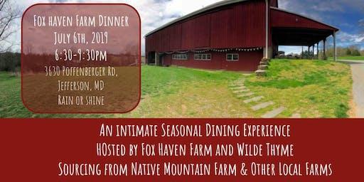 Fox Haven Wilde Farm Dinner