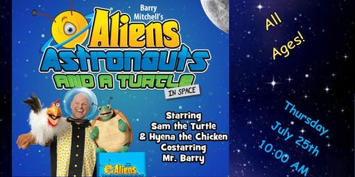 Barry Mitchell's Aliens, Astronauts,  and a Turtle in Space