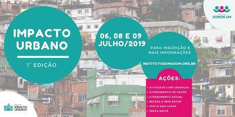 Impacto Urbano 2019 ingressos