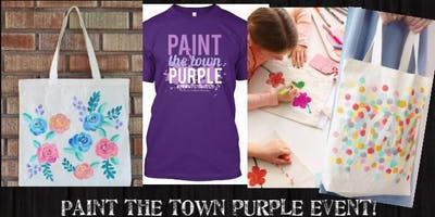 (ELGIN)*XL T-shirt*Paint the Town Purple Paint It!Event-7/19/19 6-7pm