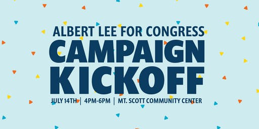 Albert Lee for Congress Campaign Kickoff