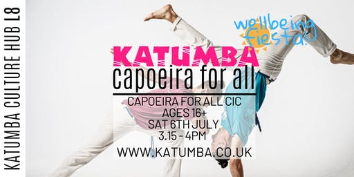 Capoeira For All 16+ Workshop - Katumba Wellbeing Fiesta
