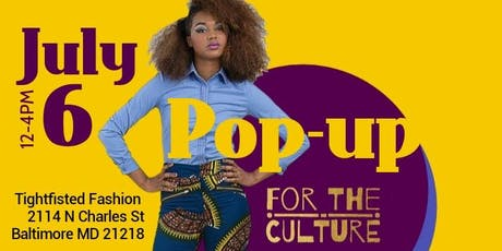 FOR THE CULTURE: Africana Pop-up tickets