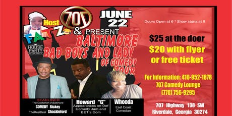 Baltimore Bad Boys and Lady Comedy Tour tickets