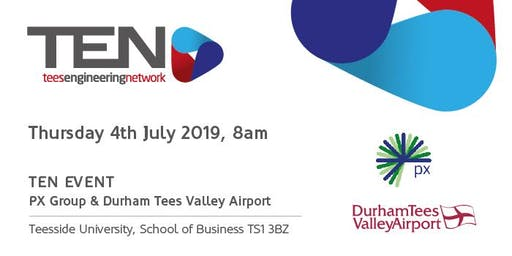 Event with Durham Tees Valley Airport and px group