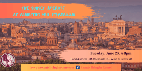 The Sunset Aperitif Gianicolo HIll (TERRAZZA) tickets