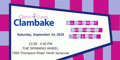 Clams 4 Cures 2019 - Supporting Paige's Butterfly Run, Inc. tickets