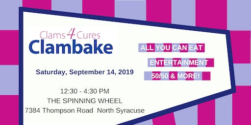 Clams 4 Cures 2019 - Supporting Paige's Butterfly Run, Inc.