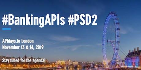 APIdays London: #BankingAPIs #PSD2 tickets