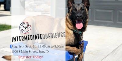August Intermediate Obedience Class