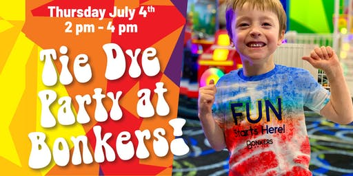 Fourth of July Tie Dye Party at Bonkers!