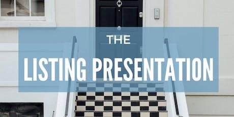 Listing Presentation tickets