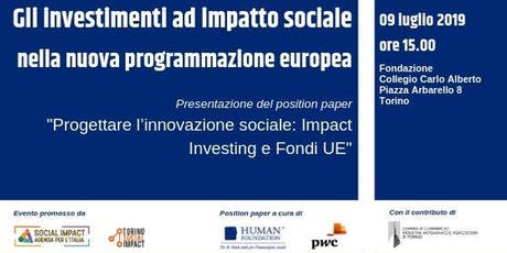 Gli investimenti ad Impatto sociale nella nuova programmazione europea biglietti